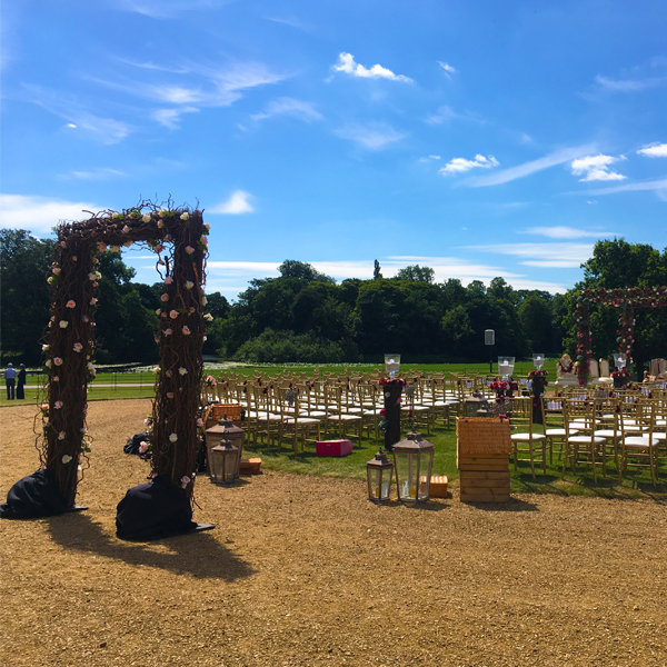 Stanford Hall Asian Wedding Outdoors