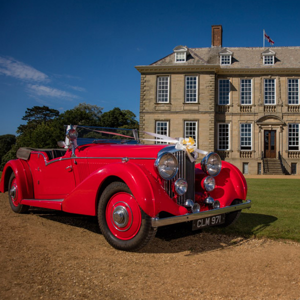 Stanford Hall Exclusive Wedding Venue Front Car