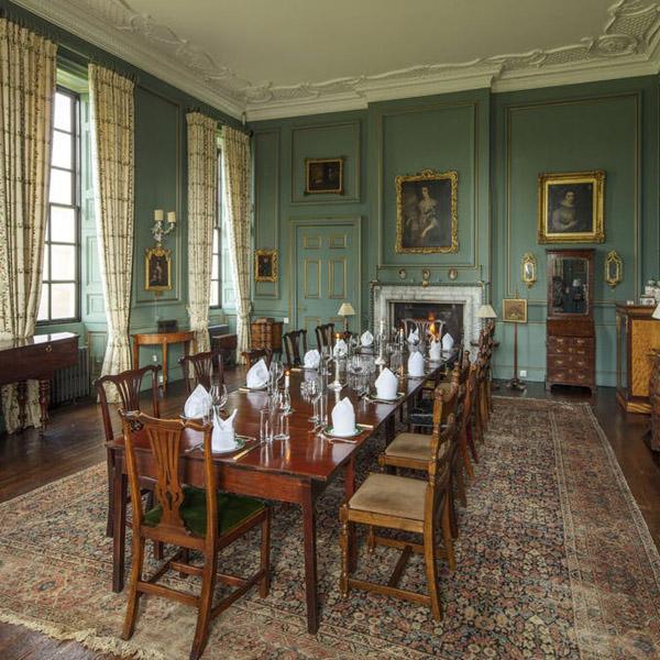 green dining room stanford hall wedding venue copy